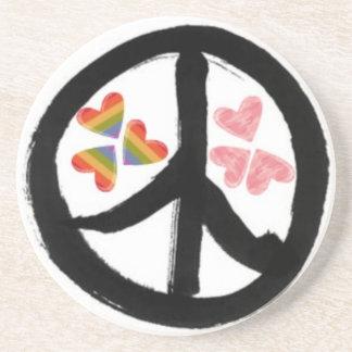 Paz de corazones posavasos manualidades