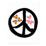 Paz de corazones postal