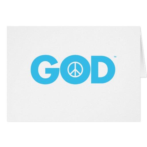 Paz de dios tarjetas