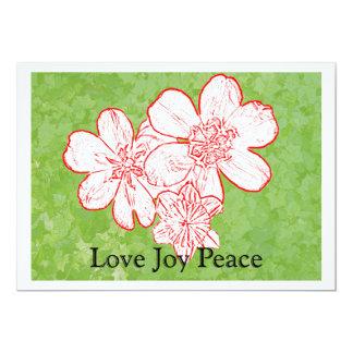 Paz de la alegría de 13 amores invitación 12,7 x 17,8 cm