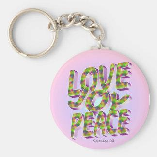 paz de la alegría del amor llavero redondo tipo pin