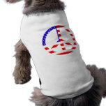 Paz de la bandera americana camisetas de mascota