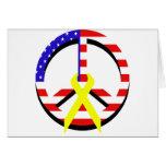 Paz de la bandera felicitación