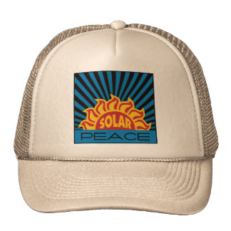 Paz de la energía solar gorros bordados