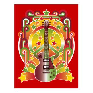 Paz de la estrella del rock tarjeta postal