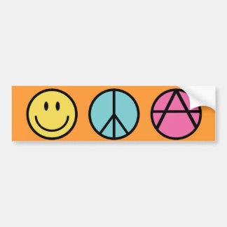 Paz de la felicidad y pegatina para el parachoques pegatina para auto