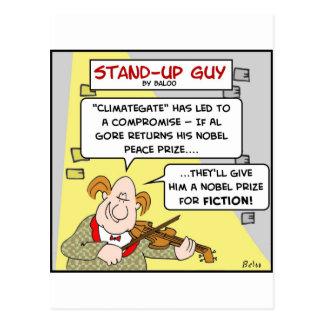 paz de la ficción del Premio Nobel del climategate Postales