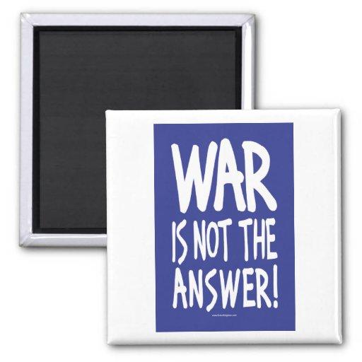 Paz de la guerra imán cuadrado