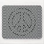 Paz de la ilusión óptica alfombrilla de ratón