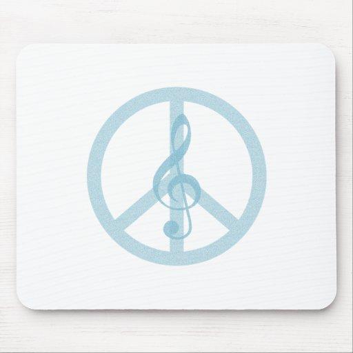 Paz de la música alfombrillas de ratón