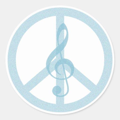 Paz de la música etiquetas redondas