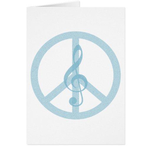 Paz de la música felicitación