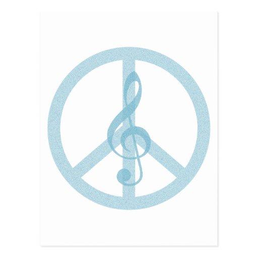 Paz de la música tarjeta postal