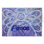 Paz de la palabra del ángel - tarjeta de Sympath