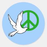 paz de la paloma etiquetas redondas
