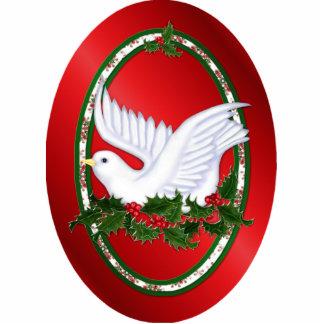 Paz de la paloma y del acebo - ornamento escultura fotográfica