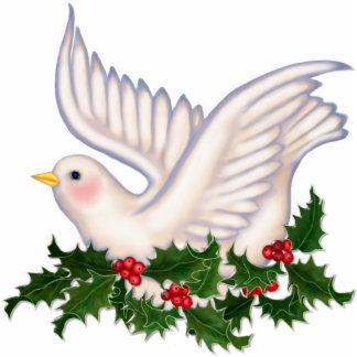 Paz de la paloma y del acebo - ornamento esculturas fotograficas