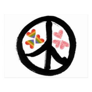 Paz de la postal de los corazones
