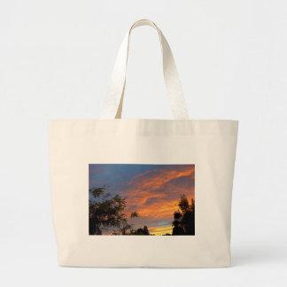 Paz de la puesta del sol bolsa de mano