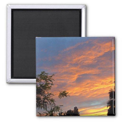 Paz de la puesta del sol imanes