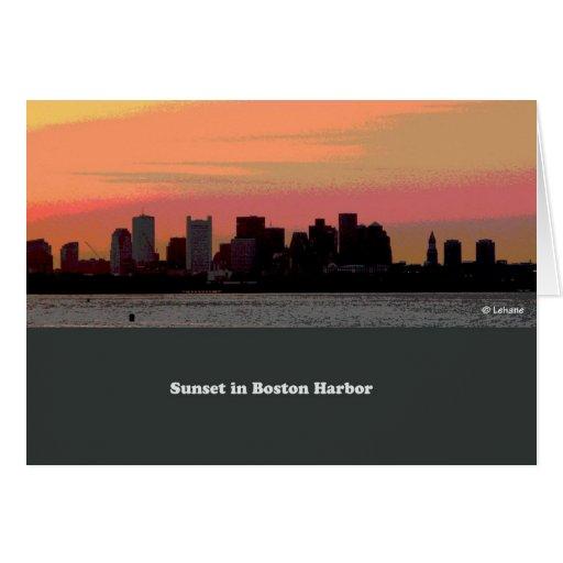 Paz de la puesta del sol--tarjeta en blanco tarjeta de felicitación