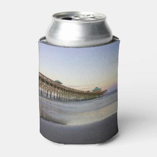 Paz de la tarde en la playa de la locura enfriador de latas