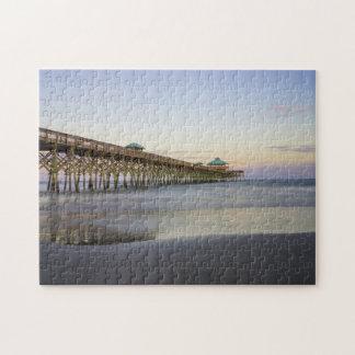 Paz de la tarde en la playa de la locura puzzles con fotos