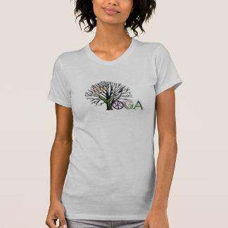 Paz de la yoga camisetas