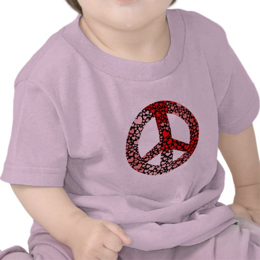 paz de los corazones camiseta