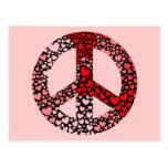 paz de los corazones postal