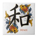 Paz de los pescados de Koi del kanji Teja