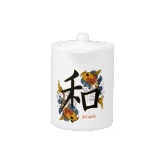 Paz de los pescados de Koi del kanji
