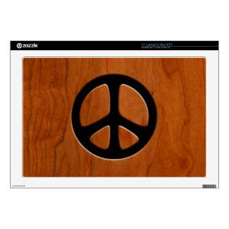 Paz de madera del recorte 43,2cm portátil calcomanía