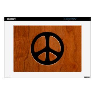 Paz de madera del recorte calcomanías para portátiles