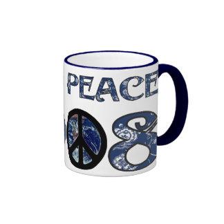 Paz de mundo 2008 v1 taza de dos colores