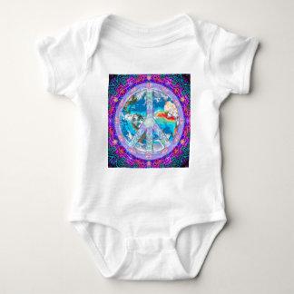 Paz de mundo body para bebé
