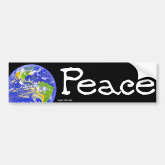 Paz de mundo pegatina de parachoque