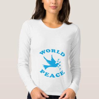 Paz de mundo con la paloma polera