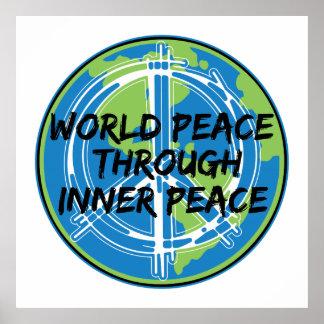 Paz de mundo con paz interna impresiones