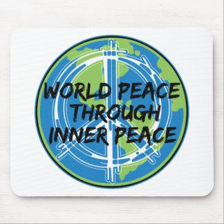Paz de mundo con paz interna tapete de ratón
