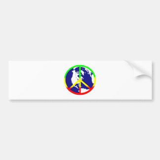 Paz de mundo de Rasta Etiqueta De Parachoque