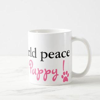 Paz de mundo del tornillo. ¡Quiero un perrito! Taza Clásica