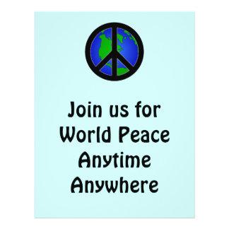 """Paz de mundo folleto 8.5"""" x 11"""""""