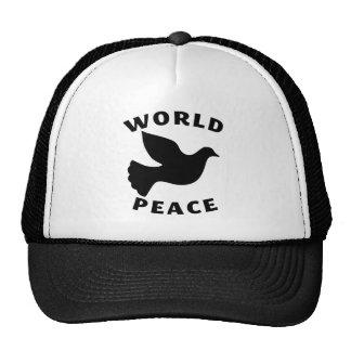 Paz de mundo gorro