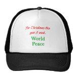 paz de mundo gorras de camionero
