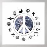Paz de mundo impresiones