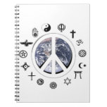 Paz de mundo libretas espirales