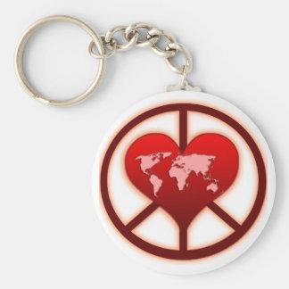 Paz de mundo llaveros