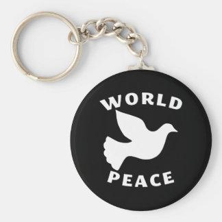 Paz de mundo llavero personalizado