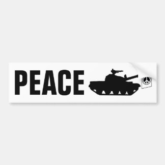 ¡Paz de mundo! Pegatina Para Auto